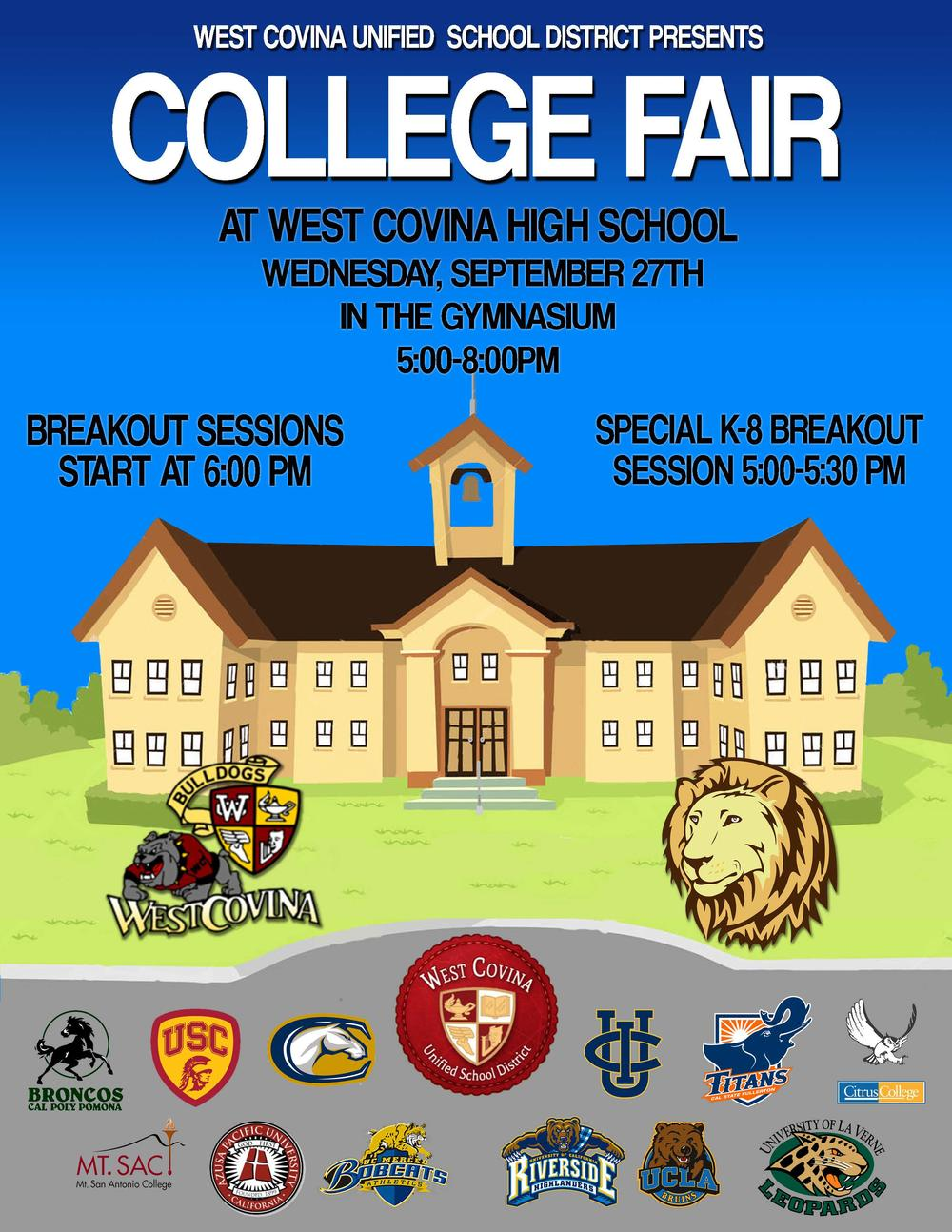 College fair at West Covina High School