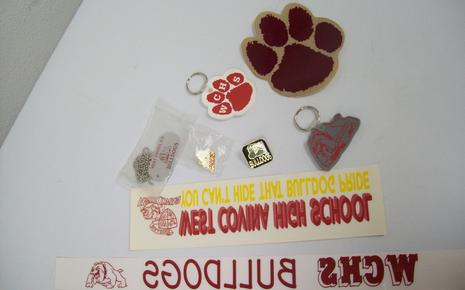 Assorted Window Stickers and Key Chains